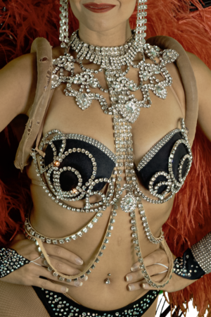 Costume Jalouse - détail strass